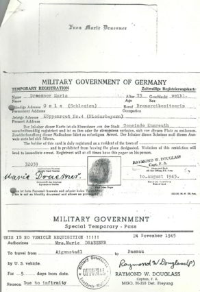 Marie Draesner Militärausweis