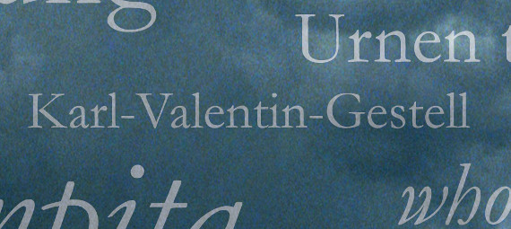 Karl Valentin Gestell #7terSprung