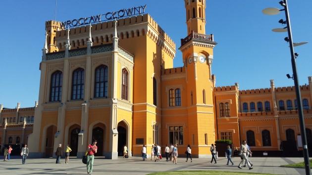 Der Bahnhof von Wrocław